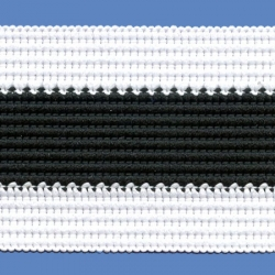 <strong>P1/ 1/2</strong> - Sports tape/ White - Black