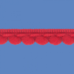 <strong>D34/ 6</strong> - Galon Mini Pompon/ Rojo