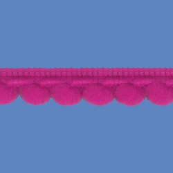 <strong>D34/ 13</strong> - Galon Mini Pompon/ Fucsia