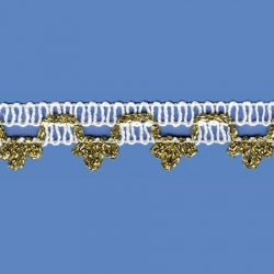 <strong>M43/ 1/ 81</strong> - White with Gold Lame Coronofito