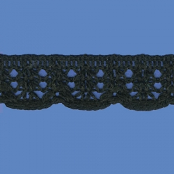 <strong>R4/ 2</strong> - Lace Trimming Milenium/ Black - Wide 2,5cm