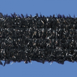 <strong>P18/ 2/82</strong> - Ribbon acrylic lame/ black-silver
