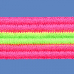 <strong>T24F/ 13/34</strong> - Arcobaleno fino fluo/ fucsia-verde fluo