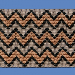 <strong>H734/ 2/10</strong> - Zig zag/ Black/ Beige