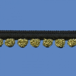 <strong>D36/ 2/81</strong> - Galon Mini pompon lurex/ negro-oro