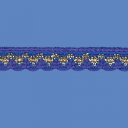 <strong>808/ 11/ 81</strong> - Handicraft Lace Trimming/ Royal blue with gold