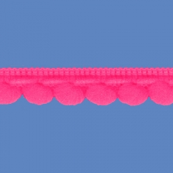 <strong>D35/ 3</strong> - Galon Mini Pompon Fluo/ Rosa
