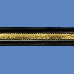 <strong>P16/ 2/81</strong> - Ribbon lame/ negro-gold