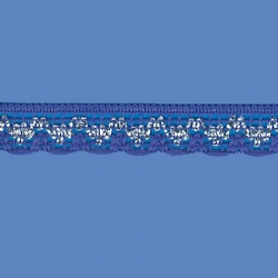 <strong>808/ 11/ 82</strong> - Handicraft Lace Trimming/ Royal Blue with Silver