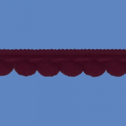 <strong>D34/ 12</strong> - Galon Mini Pompon/ Bordo