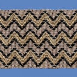 <strong>H734/ 2/88</strong> - Zig zag/ Black/ Jute