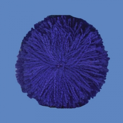 <strong>H68/11</strong> - Acrylic Pompon/ Royal blue