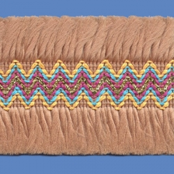 <strong>O81/ 10</strong> - Upper Zig Zag Polyester/ Beige