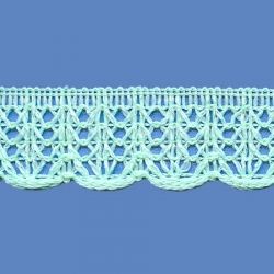 <strong>R3/ 26</strong> - Lace Trimming Milenium/ Light Green - Wide 3cm